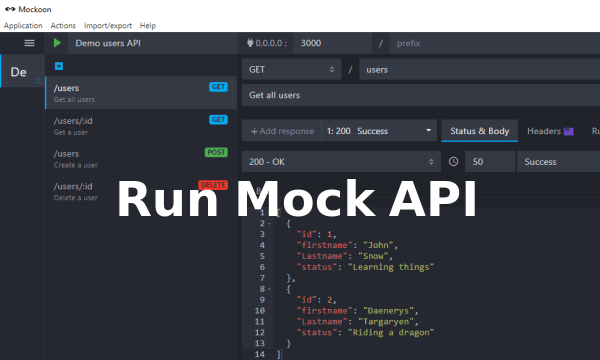 Free Software to Run Mock APIs Locally: Mockoon